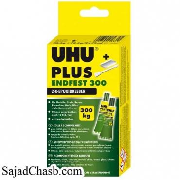 چسب دوقلوی صنعتی اوهو 163 گرمی UHU_PLUS_ENDFEST300