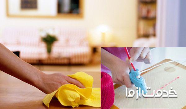 پاک کردن لکه چسب حراراتی از روی فرش